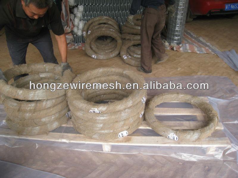 이집트 아연 도금 와이어 BWG22/25 키로그램 0.7 미리메터 바인딩 와이어/두바이 아연 도금 와이어 22 게이지