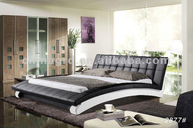 Moderne et l gant noir et blanc meubles italienne chambre for Chambre moderne noir et blanc