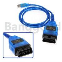 VAG-COM 409.1 KKL USB OBD2 OBD-II Diagnostic Cable Scanner for VW AUDI Volkswagen Blue Free shipping