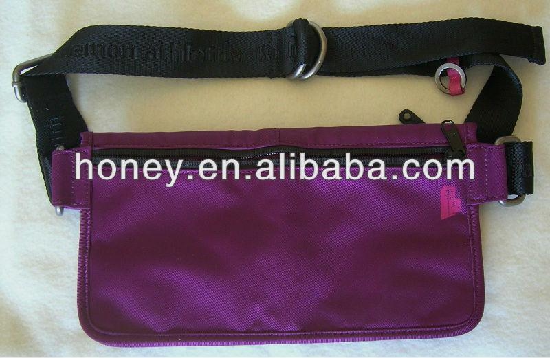 Customized Purple Waist Bag,High Quality Fashion Bike Fanny Pack