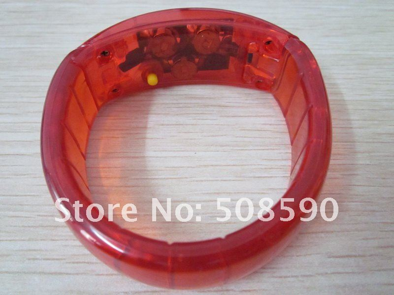 2012 new style free shipping 100pcs/lot led bracelet flashing bracelet well for party