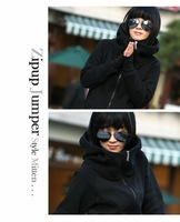 Free shipping,Winter new Korean style long-sleeved cardigan sweater coat women large size clothing thickened Hooded