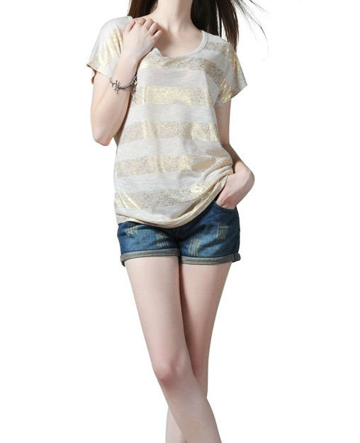 100%Bamboo Fiber T Shirt With Foil Stamping Printing For Women