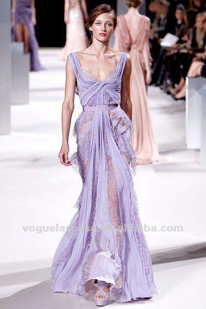 Celebrity Dresses Mila Kunis Lavender 100