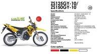 Наклейки для мотоцикла Zongshen 150CC