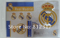 Mixed-order 20*30cm PVC or paper soccer stickers for Real Madried,Liverpool,Chelsea,Arsenal etc,. ,30pcs