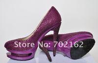 Туфли на высоком каблуке two paragraph waterproof, high heels shoes, colorful diamond women shoes lady's crystal platform women pumps