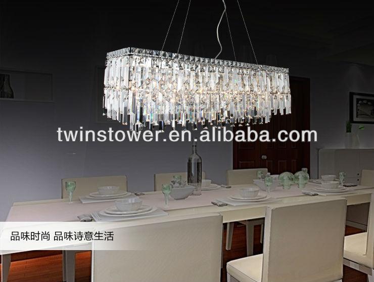 Moderne lustre en cristal de salle manger lustre id de for Lustre salle a manger contemporain