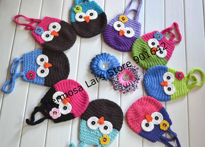 Вязание сумочек для девочек в виде животных