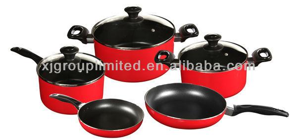 8pcs Cookware Set Non Stick Fry Pan Sauce Pan Stewpot