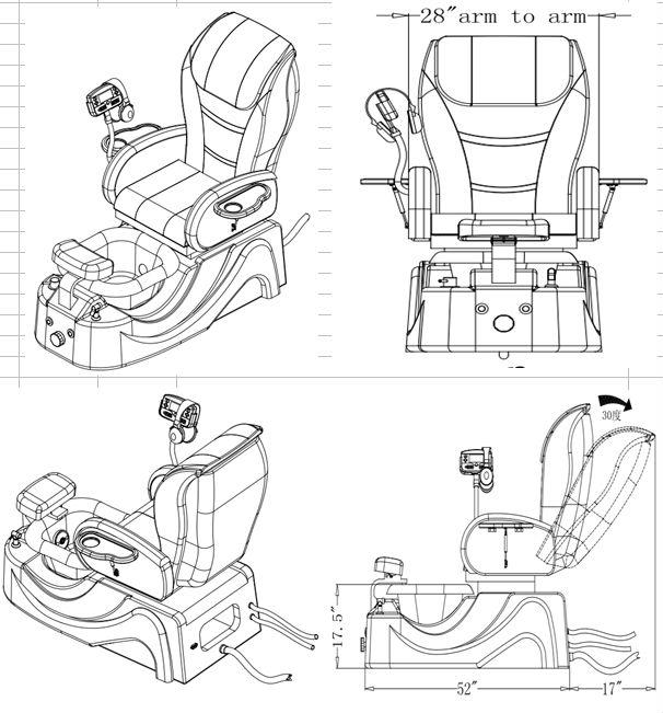 Hottest pedi spa massage chair,used spa pedicure chairs,salon pedicure spa massage chair KM-S170