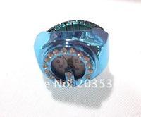Wholesale 10pcs/lot 2012 fashional Finger Ring Watch,diamond adjustable ring,pocket swatch,promotion ring gift free shipping