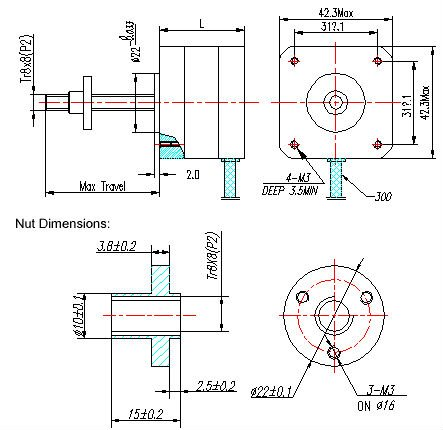 nema 17 high quality linear stepper motor Nema Wiring Diagram on