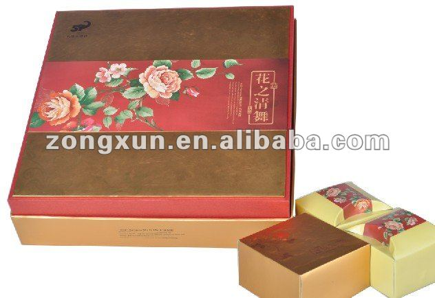 Nice design paper box for moon cake packing