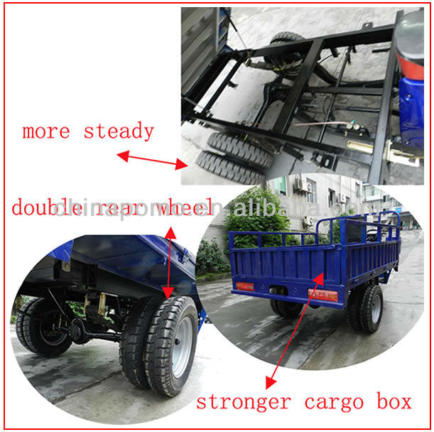2013 Chinese Motorized Gasoline Hot Sale Cheap Cargo 250CC Four Wheel Tricycle