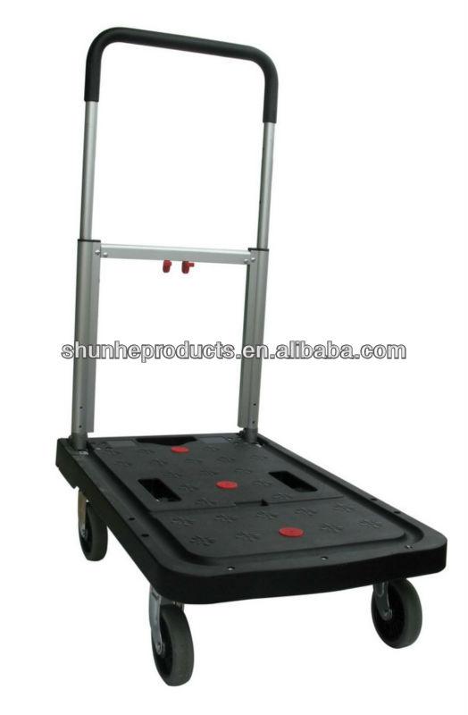 Plastic Platform cart FW-99F with folded wheels