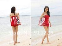 Free Shipping Ladies  Sexy Slim Elegant  Monokini Ruffle surfing Swimwear Swimsuit  Swinmdress  2 colors