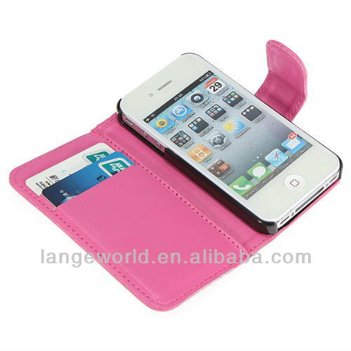 Card hold Case for iPhone 4,for leather case iphone 4