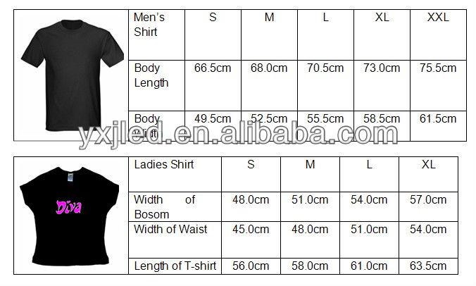 Hot!! Hot!! 2014 World Cup EL T-shirt/Flash shirt/LED T-Shirt