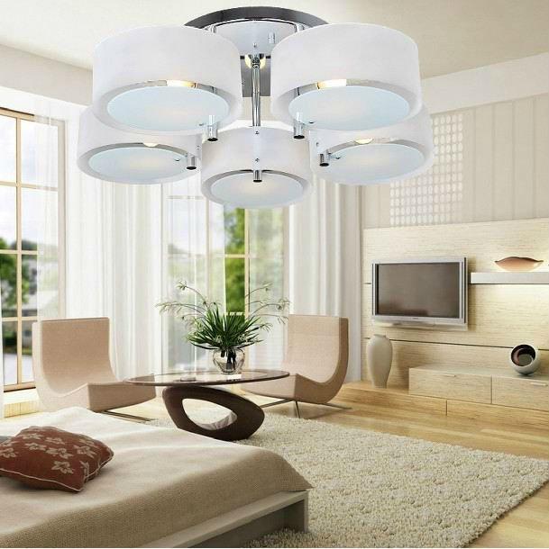 diseo moderno para saln iluminacin de techo de cristal