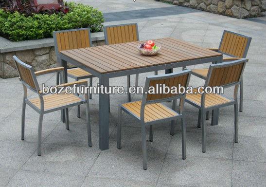 티크 가구 목재 테이블과 의자 알루미늄 가구 야외/ 최고의 정원 ...