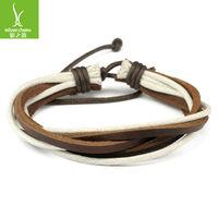 Кожаный браслет 2013 Leather Wrap Woven Bracelet Black Brown for Women Men Fashion Unisex Jewelry PI0079