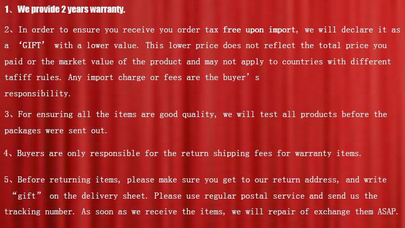 RED warranty