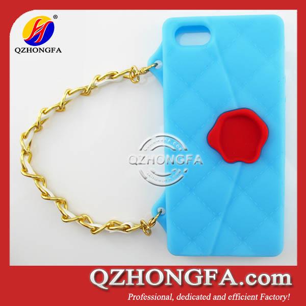 Pig Animal Design Silicone Handbag Case For iPhone 5