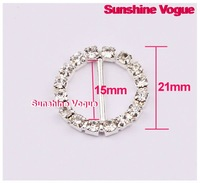 Пряжка для одежды Rhinestone buckle, Crystal buckle CPAM, 15mm inner bar, 100pcs/lot round buckle full of crystal fit ribbon