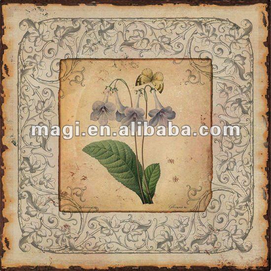 Flor de trombeta do vintage decorativos de parede sinal