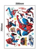 Стикеры для стен listed in stock]-UK Hot Spiderman Spider-man Cartoon Boy Room 50x70cm/sheet Nursery Mural Wall stickers