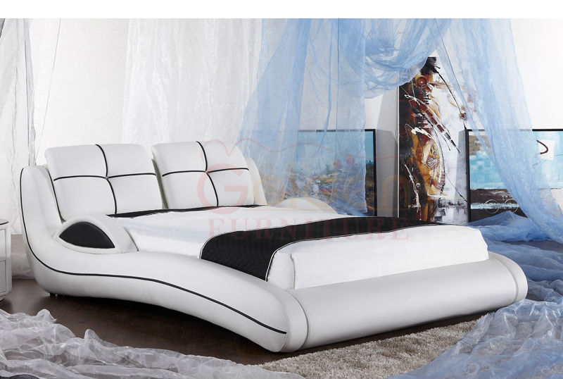 Genuine Luxury Leather Bed