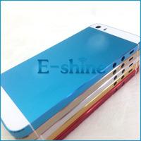 Панель для мобильных телефонов For iPhone 5S Metal Back Battery Door Middle Frame Housing with Top Bottom Glass and Set Side Button For iPhone 5 S