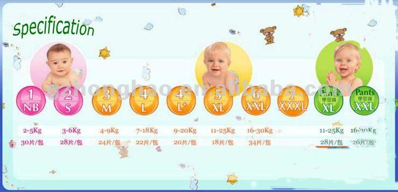 Reusable Adhesive Tape Baby Diaper
