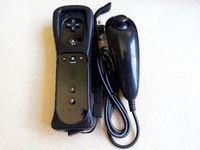 Аксессуары для Wii Best selling Nunchuck Remote Controller With Motion Plus Inside For Wii Black / White Optional