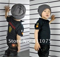 Free shipping Hot selling 100% COTTON NEW SHORT SLEEVE COLLAR boy's f-e-r-r-a-r-i t shirt children'S T- SHIRTS 5pce/lot HOT