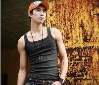Мужская футболка 2012 Hot Sale Fashion Men Sleeveless Cotton T Shirt Tank Tops
