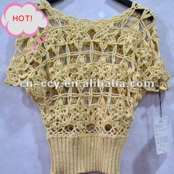 el patrón de estrella de crochet jersey chaleco para las niñas