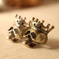 Кольцо fashion European Vintage crown Skull Ring couple ring