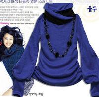 Женская футболка Cotton Lantern Sleeve Women's Shirt Long-sleeved T-shirts W4105
