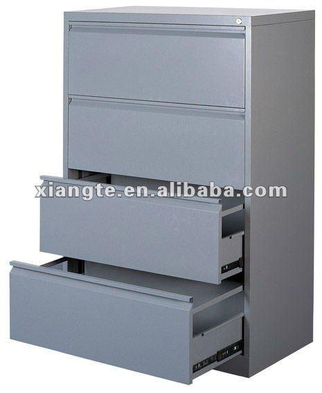 Bureau de rangement meubles vertical en acier 4 fichier for Meuble bureau 4 tiroirs