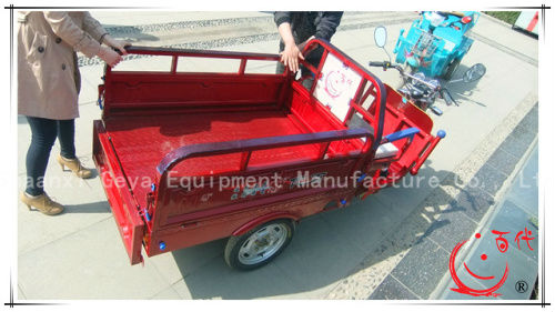 New Blue self-discharging 3 three wheel motorcycle for cargo