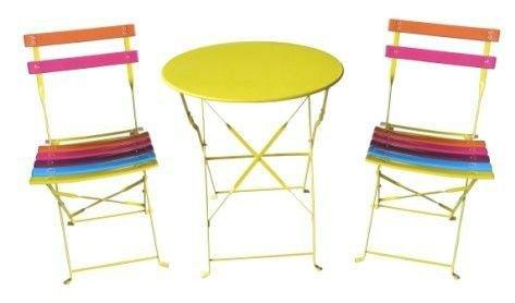 colorful table de jardin avec des chaises 14583 - Chaise Jardin Colore