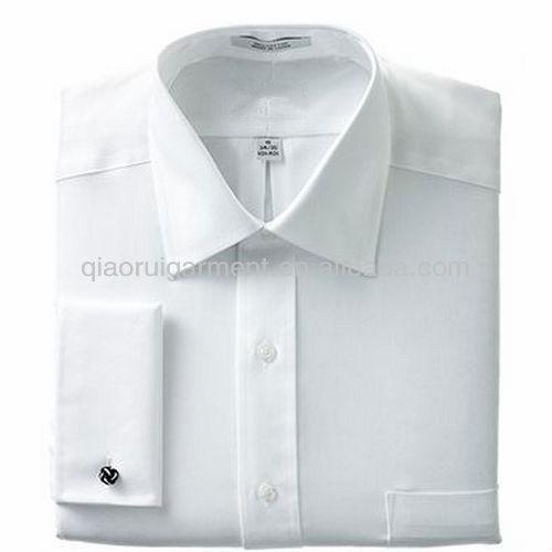 Branco não de ferro francês punho da camisa de vestido dos homens