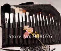Кисти для макияжа Best selling! 2012 new Good goat hair makeup brush brushes set Leather bag 16pcs/set shippiing
