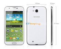 "Мобильный телефон 5.5"" Feiteng N7100 3G phone 1280x720 pixels QHD Screen MTK6577 4GB ROM Dual Camera 8.0MP GSM WCDMA note 2"