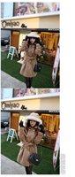 Женские пуховики, Куртки 2012 New fashion women's Winter camel woolen Coat#12437