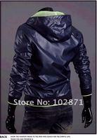 корейские мужчины быстро сушки молнии ударил цвет ультра-тонкий Мужской жакет с капюшоном