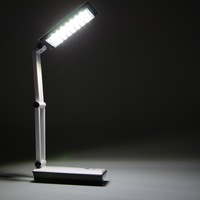 Hot touch 24 LED Fashion Foldable Rechargeable Table Switch Reading Lamp IA008