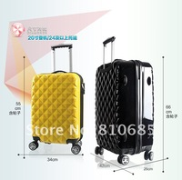 "Багажный набор partyprince Hardside 20"" Spinner Luggage Diamond pattern good quality travel trollery luggage"